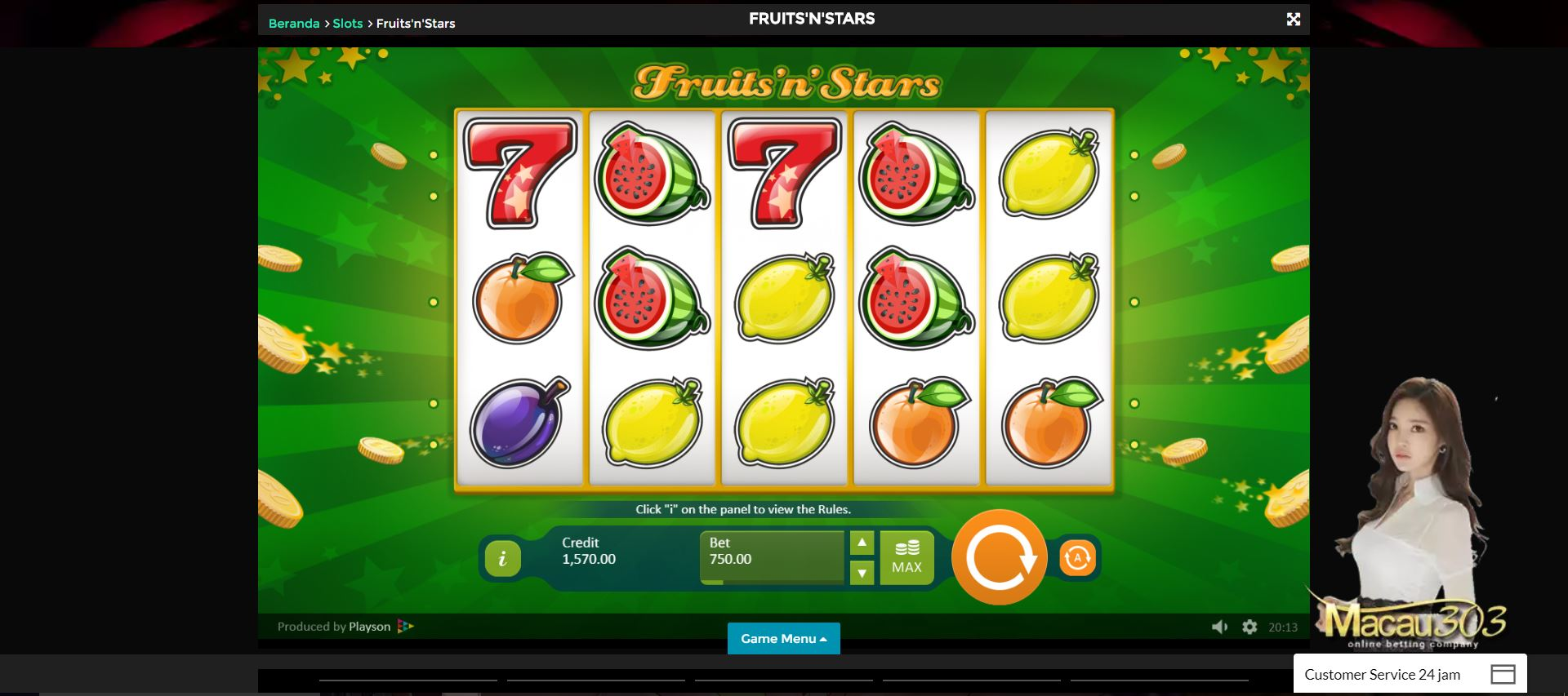 Kasino Mini Games : Slot Buah