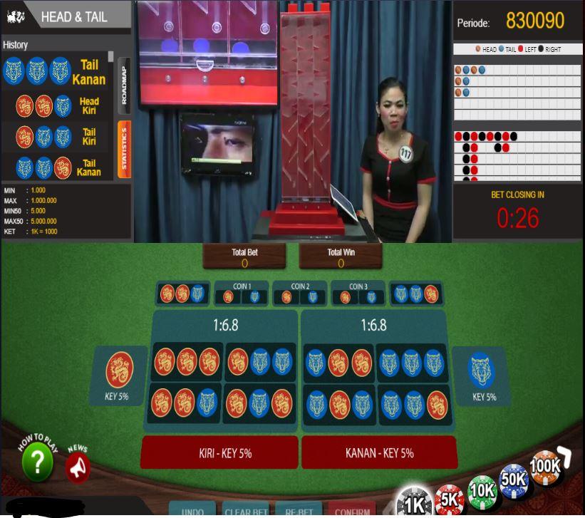 Tampilan Judi Head Tail Macau303