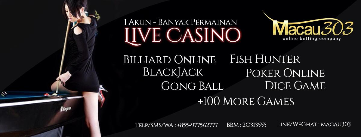 Mainkan juga berbagai permainan lain yang ada di Live Casino Macau303