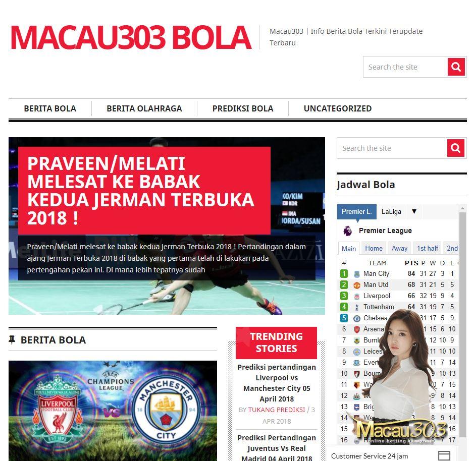 Tampilan Macau303bola Sebagai Situs Prediksi