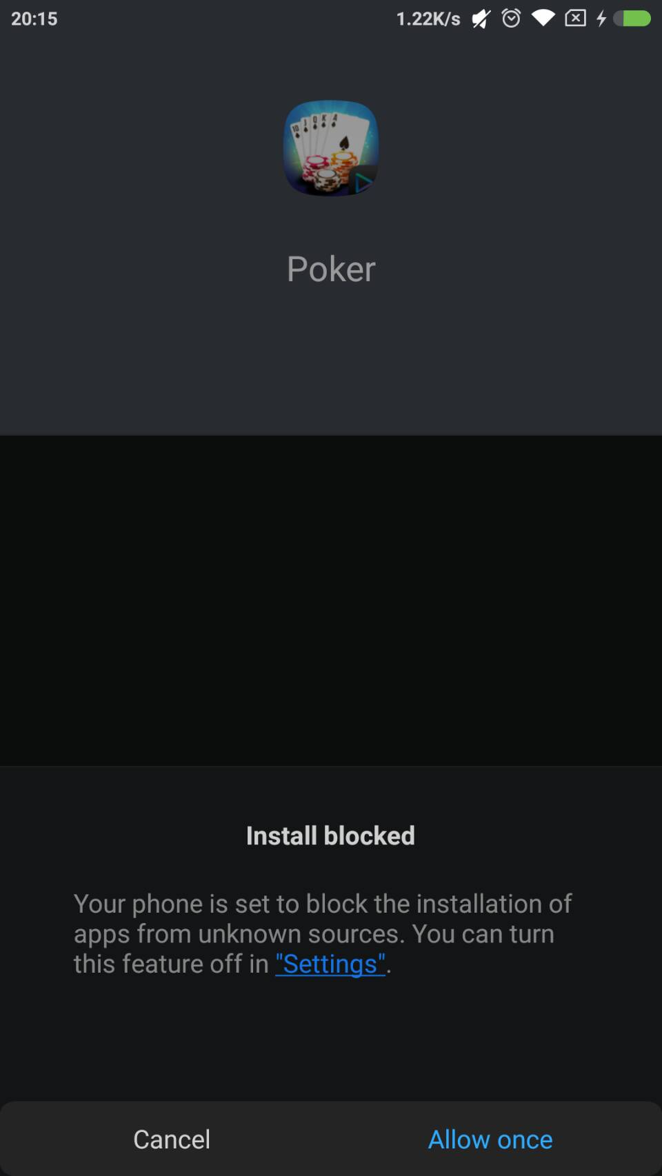 Cara Download Game Poker Macau303 - Allow Installation