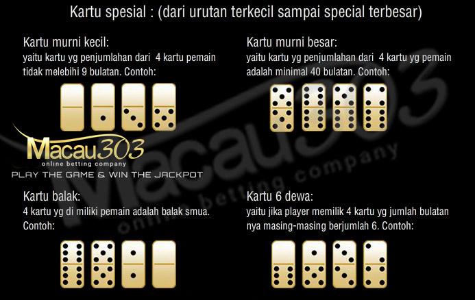 Kartu Spesial Domino Kiu Macau303