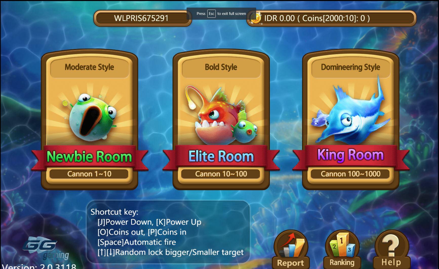 Tiga Jenis Ruangan di Game Tembak Ikan Online