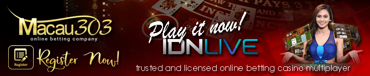 register situs agen judi casino idnlive online terpercaya - pasti bayar - banyak bonus freechip 100% gratis tanpa deposit - www.macau303.site