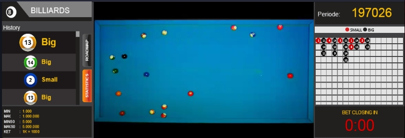 Judi Bola Sodok Billiard Online Live Terpercaya